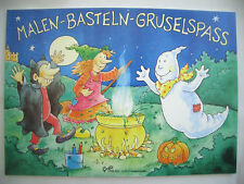 MALEN*BASTELN*RÄTSELN*&GRUSELSPASS*Halloween*Creativ Malbuch DinA5*Grätz Verlag*