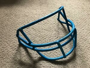 Used 1993 Schutt Football Helmet Facemask OPO Royal Blue Detroit Lions  7