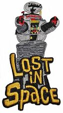 """Lost In Space Robby Robot Logo 4"""" Tall Embroidered Iron On Patch"""