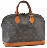 Authentic Louis Vuitton Monogram Alma Hand Bag M51130 LV B7471