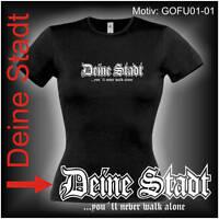Damen T-Shirt Girlie Shirt mit Wunschtext Stadt oder Namen Wunschdruck GOFU01-01