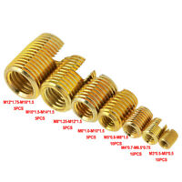 50Pcs Threaded Steel Inserts Slotted Self Tapping Knurled Kit M4M5 M6 M8 M10 M12