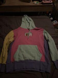 Rip N Dip X Teddy Fresh Multicolor Block  Hoodie Sweatshirt Mens M