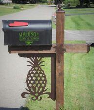 Mailbox Post Pineapple decor kit, Pineapple Bracket for Wood Mailbox Post, beach