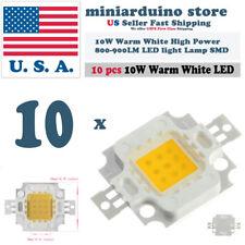 10PCS 10W Warm White High Power 800-900LM LED light Lamp SMD Chip DC 9-12V