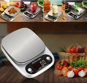 Digital 10KG kitchen scales electronic balance LCD food weight postal SCALE.UK