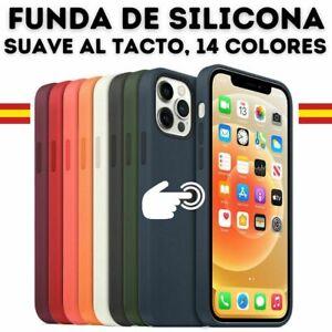 Funda SILICONA Para IPHONE 12 / 12 Pro / 12 Mini Max Forro Microfibra de Calidad