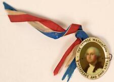 1930's George Washington Chesapeake & Ohio Lines Medal Railroad Train Pin Button