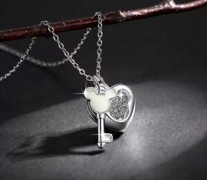 Disney Mickey Mouse Key Necklace Jewellery - Birthday Gift