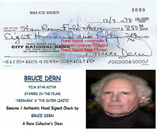 BRUCE DERN   AMERICAN  FILM STAR ACTOR  SIGNED BANK CHEQUE DATED 1978  RARE ITEM