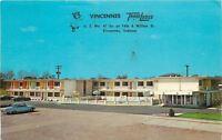 Vincennes Indiana~Vincennes TraveLodge Motel~Parking Lot~1960s Cars Postcard