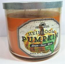 Bath & Body Works HEIRLOOM PUMPKIN Scented Candle 3-Wick 14.5 oz *RARE!*