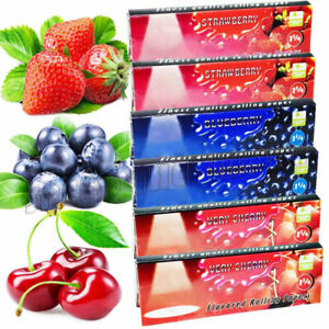 6 Packs 3 Variety BERRY Flavored Cigarette Rolling Paper NEW