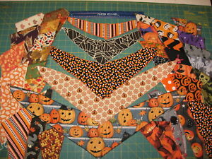 75 HALLOWEEN & FALL  XS S M L XL Dog Grooming BANDANAS Holiday PET SCARF Tie On