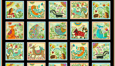 Henry Glass /& Co ~ Bright I Spy Colors ~ 100/% Cotton Soft Book Fabric Panel