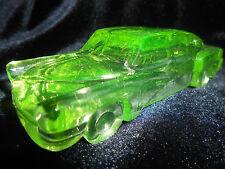 Green Vaseline glass 1948 Tucker Torpedo Car uranium candy container radioactive