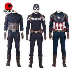 Captain America Cosplay Avengers 4 Endgame Costume Superhero Halloween party