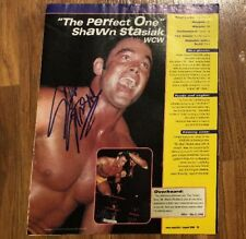 Shawn Stasiak Magazine Page Cut Signed Autograph Wresting WCW