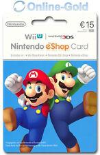 15€ Nintendo eShop Card - Guthaben Card Key - EU