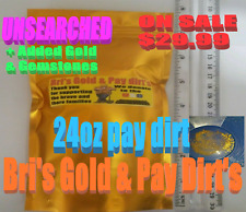 Buy Now 24 oz.of Bri's Famous Pay Dirt's ADDED Natural gold&Garnets-gift-18k 22k