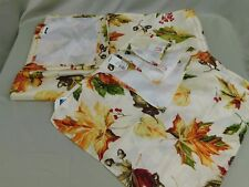 Thanksgiving Tableware - Fall Leaves Napkins and Oblong Tablecloth Lot #5671