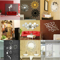 Removable 3D Mirror Wall Stickers Decal Art Vinyl Acrylic Print Decal Home Decor