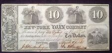 $10 1838 New York Loan Company Obsolete Note New York (#Pm-66)