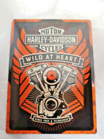 Harley Davidson Blechschild Schild Wild at Heart  40x30 10014856MP