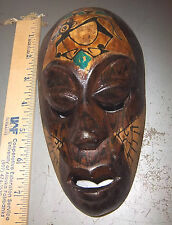 Wood Tribal Style Africa Mask, hand carved, 7.5 x 4, fantastic reproduction