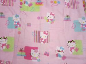 "Hello Kitty Fabric Shower Curtain 68"" X 73"" Sanrio Brand Pink 2006"