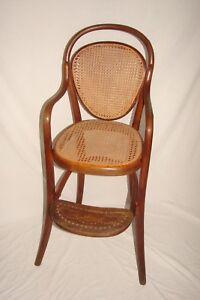 Antique 1800s Original Thonet Austria Bentwood Baby Child High Chair