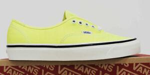 NIB VANS Men's Authentic 44 DX Anaheim Factory 9.5 Neon Yellow Sneakers Shoes