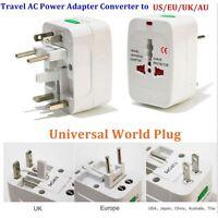 EU AU UK US To Universal World Adapter Socket Convertor Travel AC Power Plug Top