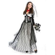 New Luxurious Ladies Womens Corpse Vampire Bride Halloween Costume Party Dress