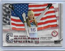 2018 TOPPS OLYMPICS LINDSEY VONN PRIDE / COUNTRY FLAG SKIING CARD /99 PAC-LV