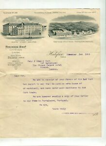 Letterhead Robinson Bros Cork Growers 1909 Halifax
