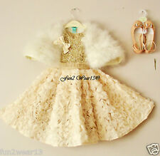 BNWT MONSOON GIRLS GOLD PEACH SKYLA SEQUIN SPARKLY TULLE ROSE PARTY DRESS 4 Yrs