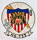 Original vintage NAVY Helicopter Squadron patch  HS-733 Helantisubron