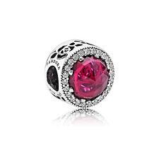 Genuino PANDORA ALE925 Plata Disney Belle's radiante Encanto Rosa No792140NCC