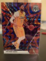 2019-20 MOSAIC BASKETBALL ANTHONY DAVIS BLUE REACTIVE PRIZM LAKERS E5