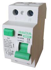 Fehlerstromschutzschalter SR6HE 2P 63A/30mA AC FI Schalter Schutzschalter