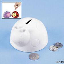Ladybug shaped Ceramic bank. Color your own!