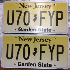 😊🌟🌟😊 AUTHENTIC USA 2010's NEW JERSEY PAIR OF LICENSE PLATES.
