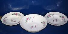 Fine Bone China Rose pattern By Royal Kent (Poland) serving bowl & 2 soup bowl