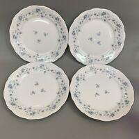 "Johann Haviland Bavaria Dinner Plates Germany Blue Garland Floral 10"" Lot of 4"