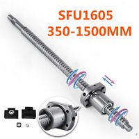 Ball Screw SFU1605 Antibacklash L350mm-1500mm & BK/BF12 + 6.35x10mm Coupler Set