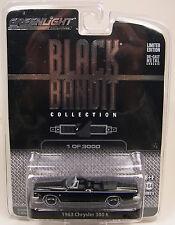 GREENLIGHT 1:64 SCALE DIECAST METAL BLACK 1963 CHRYSLER 300K CONVERTIBLE