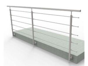 Balkongeländer Terrassengeländer Handlauf 3m Edelstahl Wandmontage 100cm hoch