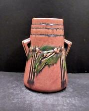 "Roseville Laurel Terra Cotta Vase - 671-7 1/4""  - MINT"