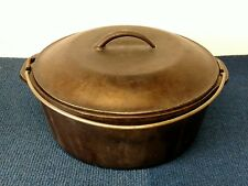 Vintage Cast Iron Pot with Lid and Wire Bale 10 1/4 No 8 Dutch Oven Made in USA